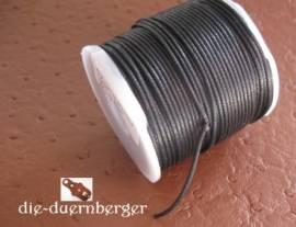 Baumwollkordel schwarz gewachst rund 50m - Bild vergrößern