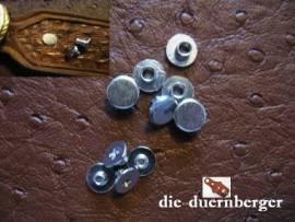 Buchschrauben Chicagoschrauben 5mm / Kopf 8 mm Fb. silbern - Bild vergrößern