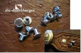 Buchschrauben Chicagoschrauben 8mm / Kopf 10 mm Fb. silbern - Bild vergrößern