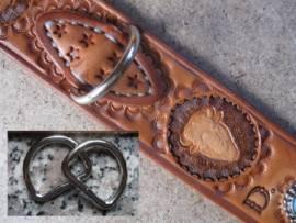 D-Ring 30 x 22 x 3,8 mm vernickelt - Bild vergrößern