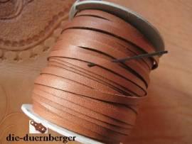 Flechtriemen / Lederband 5mm cognac / 5m <--Flechtband//--> - Bild vergrößern