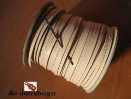 Flechtriemen / Lederband 3mm natur / 5m <--Flechtband//--> - Bild vergrößern