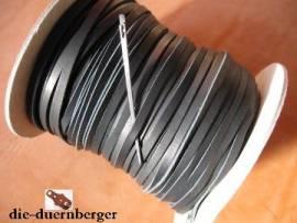 Flechtriemen / Lederband 3mm schwarz / 5m <--Flechtband//--> - Bild vergrößern
