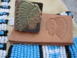 Punzierstempel Indian Chief - Bild vergrößern