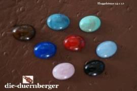 b) Muggelstein grüntürkis oval klein Zierniete - Bild vergrößern