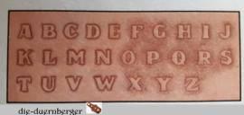 72690 Craftaid Alphabet 1/2 in  - Bild vergrößern