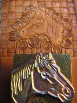 Punzierstempel Horse Head L - Bild vergrößern