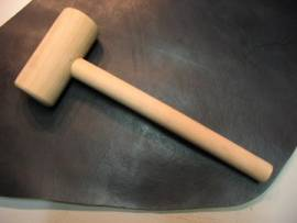Holzhammer large  / Leather Mallet - Bild vergrern 