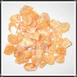Orangencalcit Chips Rohsteine Mexico 1kg - Bild vergrößern