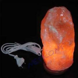 Lampe, Salzkristalllampe, Wohnraumlampe, 3-5kg, ca. 25cm, NEU - Bild vergrößern