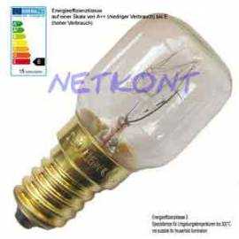 Backofenbirne, Glühlampe 15W, E14, 230V bis 300°C Glühbirne, Backofen-Birne - Bild vergrößern