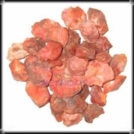 Karneol Chips Rohsteine naturrein Indien 1kg - Bild vergrößern