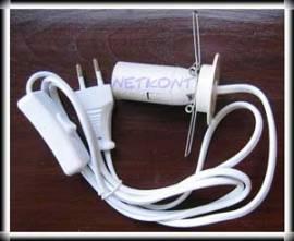 Kabel für Edelsteinlampen, E14, 168 cm, mit Schalter und Fassung - Bild vergrößern