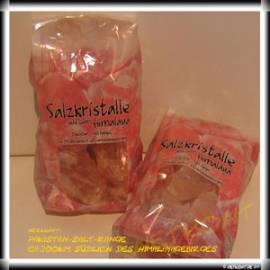 1kg Salzkristalle aus Pakistan, Brocken, Steinsalz, rosa - Bild vergrößern
