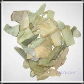 Serpentin Chips Rohsteine naturrein China 1kg - Bild vergrößern