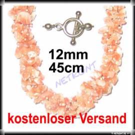 Splitterkette Sonnenstein 45cm, Verschluss aus 925er Silber - Bild vergrößern