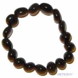 Trommelstein Armband -Glücksbringer- Achat schwarz - Bild vergrößern