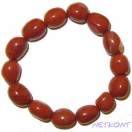Trommelstein Armband -Glücksbringer- Jaspis rot - Bild vergrößern