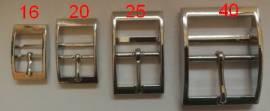 Doppelstegschnalle 16 mm  - Bild vergrößern