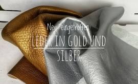 Leder gold NEU!!! - Bild vergrößern