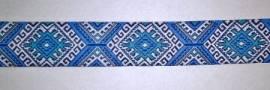 Webband Marrakesch blau - Bild vergrößern