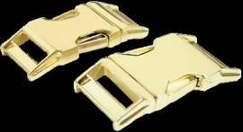 Metall Steckschließe 25 mm gold Messing - Bild vergrößern