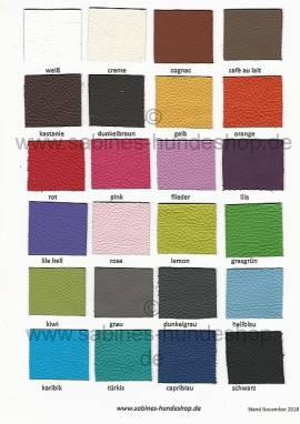 Farbmusterkarte Leder NEU!!! - Bild vergrößern
