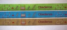 woven ribbon Obedience - Bild vergrößern
