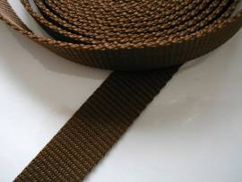 Gurtband 25 mm braun stark - Bild vergrößern