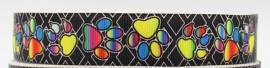 Ripsband bunte Pfoten - Bild vergrößern