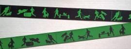 Webband Rest THS grün 1,45 Meter - Bild vergrößern