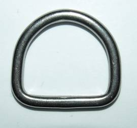 D-Ring 17 mm Edelstahl - Bild vergrößern