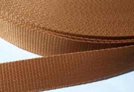 Gurtband 25 mm hellbraun - Bild vergrößern