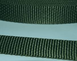 Gurtband 25 mm oliv stark - Bild vergrößern
