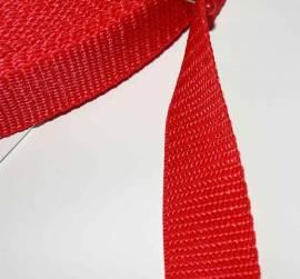 Gurtband 25 mm rot - Bild vergrößern