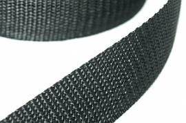 Gurtband 25 mm schwarz   - Bild vergrößern