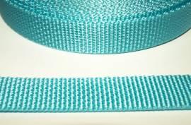 Gurtband 25 mm türkis stark - Bild vergrößern