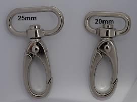 Karabinerhaken für Taschen u. Schlüsselbänder 20 mm - Bild vergrößern