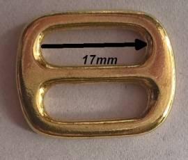 Schieber Messing 17 mm - Bild vergrößern