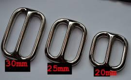 Schieber Metall 25 mm abgerundet - Bild vergrößern