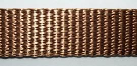 hochwertiges Gurtband nougatbraun - Bild vergrößern