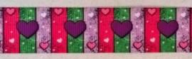 Ripsband love hearts - Bild vergrößern