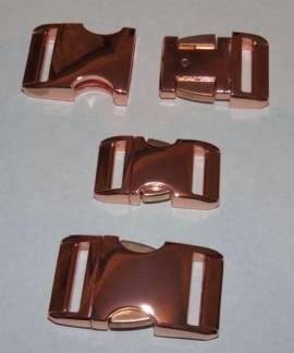 Alu Steckschließe 25 mm rosegold - Bild vergrößern