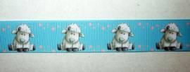 Ripsband Schafe - Bild vergrößern