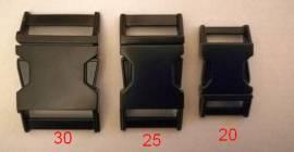 Metall Steckschließe 20 mm mattschwarz   - Bild vergrößern