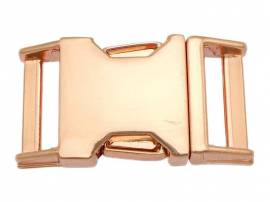 Metall Steckschließe 16 mm roségold - Bild vergrößern