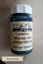 Eco-Flo Leather Dye Coal black schwarz
