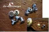 Buchschrauben Chicagoschrauben 7mm / Kopf 10 mm Fb. silbern