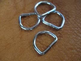 D-Ring 16 x 12 x 2,6 mm Farbe silber - Bild vergrößern