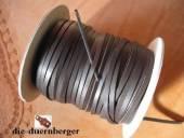 Flechtriemen / Lederband 3mm braun / 5m